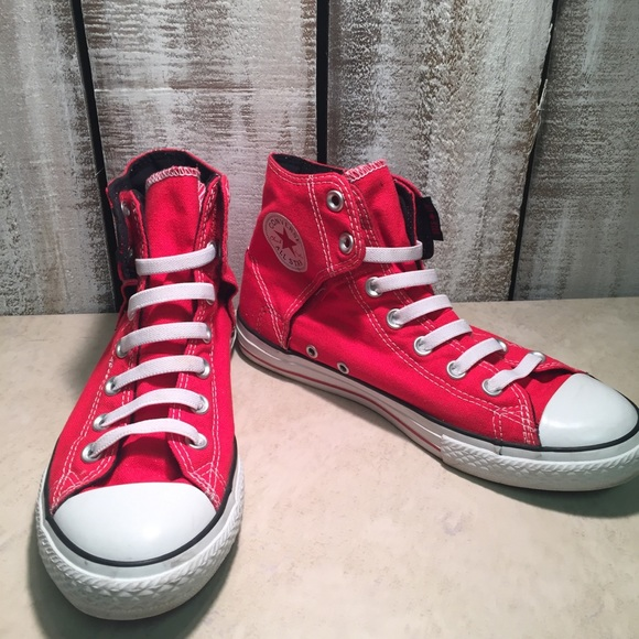 5ad172884f9ee9 Converse Other - Converse Chuck Taylor All Star High Red No Lace